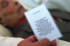 Free Prayer Card For The Departed In Peace Stock Photos - 162781723