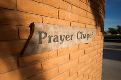 Prayer chapel sign Stock Photo