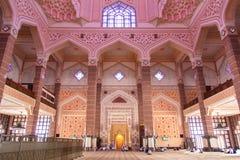Prayer court of Putra Jaya Mosque Royalty Free Stock Photo