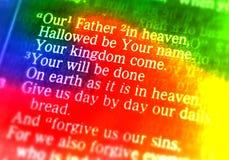 Prayer du seigneur - notre père dans le ciel Photo libre de droits