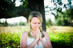 Prayer and Faith stock images