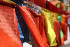 Prayer flag. For world peace and love Stock Image