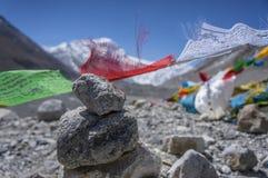 Prayer flag. In Everest base camp Tibet Royalty Free Stock Image