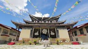 Prayer flag of the temple i, shangri-la ,China. Royalty Free Stock Photos