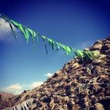 Prayer flag. The prayer flag in Tibet Royalty Free Stock Images