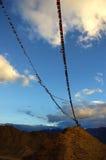 Prayer flags. Tibetan Prayer flags, Leh, Ladakh, India Royalty Free Stock Photo