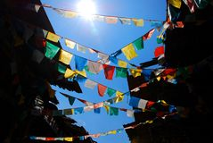 The prayer flags Royalty Free Stock Photo