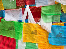 Prayer flags. Tibetan prayer flags, shanxi, china Royalty Free Stock Photos