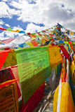 Prayer flags. In the Tibet Royalty Free Stock Photo