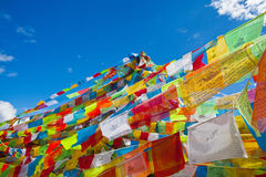 Prayer flags. In the Tibet Royalty Free Stock Images