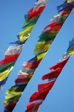 Prayer Flags. Against the sky Stock Images