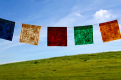 Prayer flags. Tibetan prayer flags royalty free stock photo