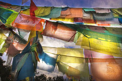 Prayer flags. Color of prayer flags pretty much beauty royalty free stock photos