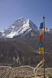 Prayer Flags in the Himalaya Stock Images