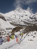 Prayer flags in the Himalayas Stock Image