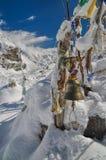 Prayer flags in Himalayas Stock Photos