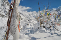 Prayer flags in Himalayas Royalty Free Stock Photos