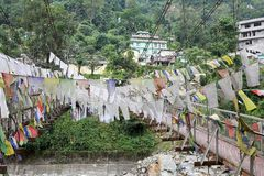 Prayer flags, Legship, West Sikkim, India Royalty Free Stock Images