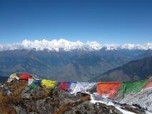 Prayer flags in Nepal stock photo