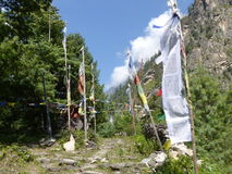 Prayer flags in Nepal Royalty Free Stock Image