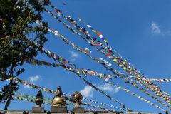 The prayer flags in swayambhunath,kathmandu,nepal Royalty Free Stock Photos