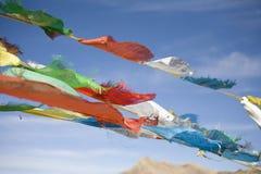Prayer flags tibet. Close up of prayer flags Royalty Free Stock Photos