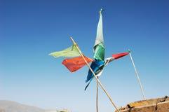 Prayer flags in tibet Stock Photos