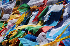 Prayer flags in Tibet Royalty Free Stock Photography
