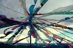 Prayer Flags in Tibet Stock Image