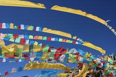 Prayer flags in Tibet China stock photography