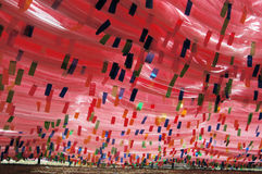 Prayer flags in Tibet China. Tibetan prayer flags in the vicinity of Lhasa Stock Photography