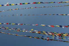 Prayer Flags in the wind Royalty Free Stock Photography