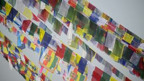 Prayer flags in the wind Royalty Free Stock Image