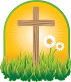 Prayer Garden. Cross sitting in beautiful prayer garden Royalty Free Stock Image