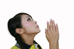 Prayer girl Stock Photos