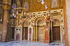 The prayer hall of Al-Nasir Muhammad Mosque Stock Photography