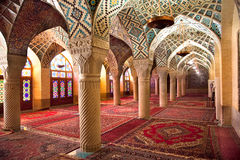 Prayer Hall of Nasir al-Molk Mosque, Iran Royalty Free Stock Photography