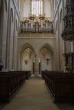 Prayer hall St. Barbara`s Church Stock Images