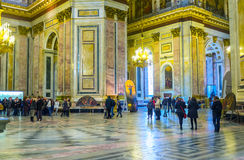 The prayer hall of St Isaac's Cathedral in St Petersburg Stock Photos