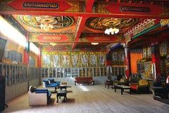 The prayer hall. Tibet Ganzi monasytery prayer hall Royalty Free Stock Images