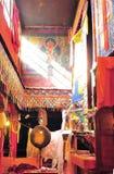 The prayer hall. Tibet lhasa Muru monasytery prayer hall Royalty Free Stock Photography