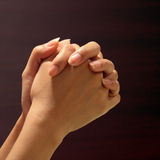 Prayer hand. Hand of prayer with faith in God Stock Photography