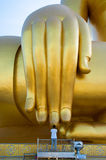 Prayer at the hand of Buddha Royalty Free Stock Image