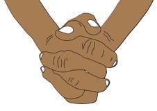 Prayer hand. Hand of prayer with faith in God stock illustration
