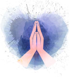 Prayer  hands Royalty Free Stock Photo
