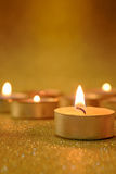 Prayer and hope concept. Retro candle light with lighting effect Royalty Free Stock Photography