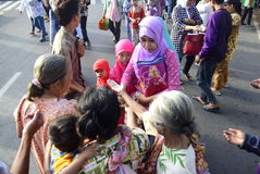 Prayer idul fitri in semarang Stock Photography
