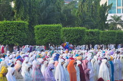 Prayer idul fitri in semarang Royalty Free Stock Photos