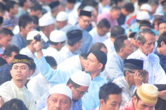 Prayer idul fitri in semarang Royalty Free Stock Image