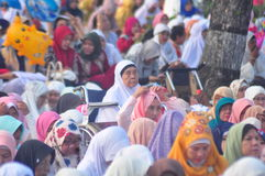 Prayer idul fitri in semarang Royalty Free Stock Images